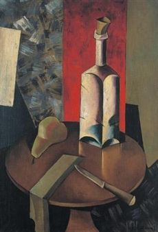Still life with bottle By Natan Altman ,1919