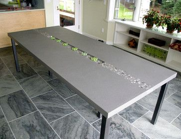 Contemporary Concrete Tables from Trueform Concrete contemporary kitchen products