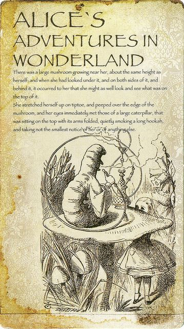 'Alice meets the Caterpillar' by John Tenniel from 'Alice's Adventures in Wonderland' (Lewis Carroll)