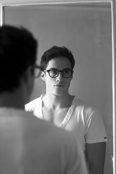 glasses, really Michael Trevino?! oh well... your still cute!