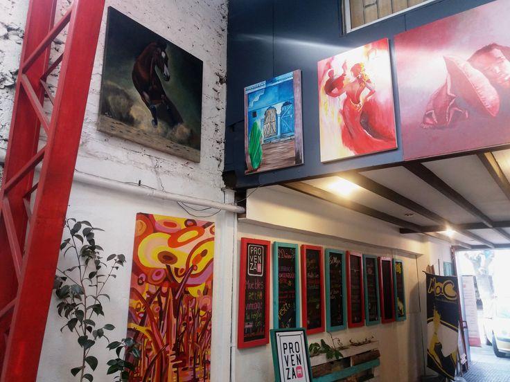 Pinturas en exhibición y consignación en Galería Italdeco Av. Italia 1195