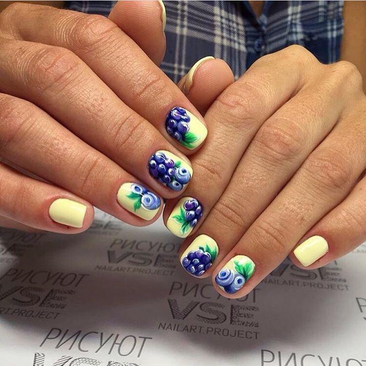 Berry nails, Bright summer nails ideas, Colorful nails 2017, Fresh nails, Fun…