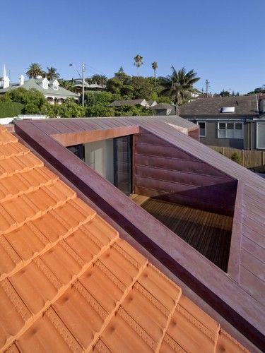 Loft Conversion - roof balcony framed harbour