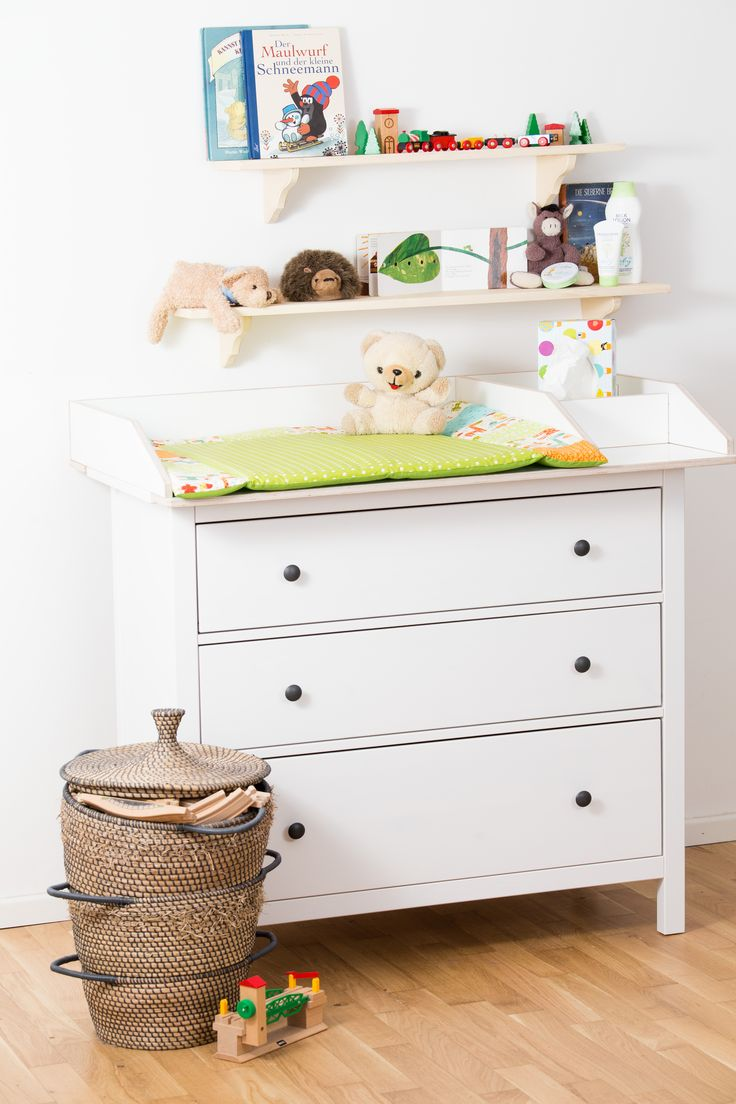 wickelaufsatz mit fach f r hemnes kommode wei shops baby changing tables and babies. Black Bedroom Furniture Sets. Home Design Ideas
