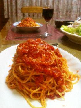 あのお店のトマトとにんにくのスパゲッティ by sakusakudon [クックパッド] 簡単おいしいみんなのレシピが252万品