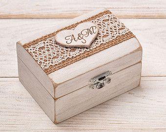 Anello nuziale anello portatore casella di HandmadeDecoupage