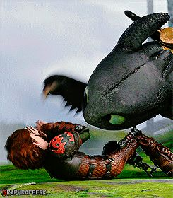 Does anyone else notice that Toothless stabs Hiccup in the face?