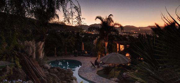 pool sunset, casa de laila, spain