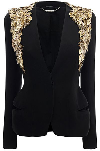 Blazer with gold by Alexander McQueen