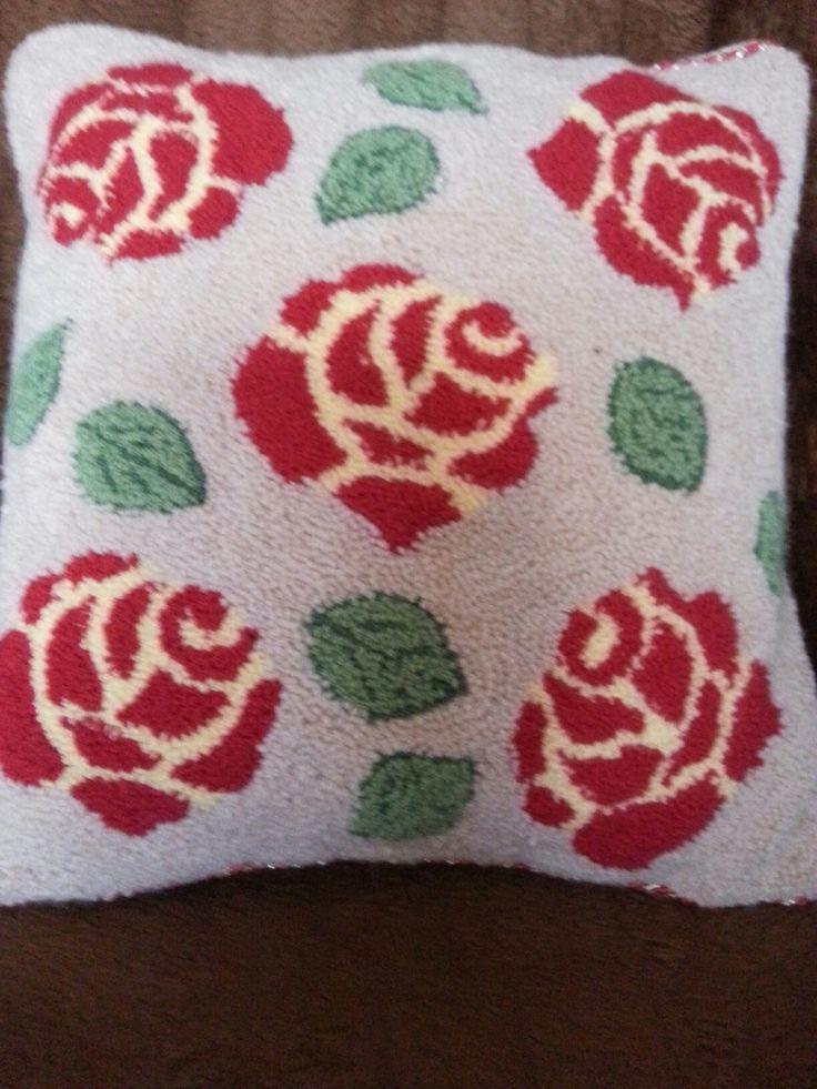 Roses- Punch Needle Rug Hooking