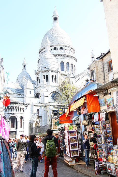 Montmartre, Paris, France. Montmartre is the home that nurtured most of the great artists and writers living in France for over 200 years. Picasso, van Gogh and countless others lived and worked in these narrow streets.