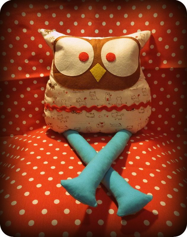 Christmas toy gift,handmade owl pillow ,Home Decor Pillow Pillow by SedaIsyarCrafts on Etsy