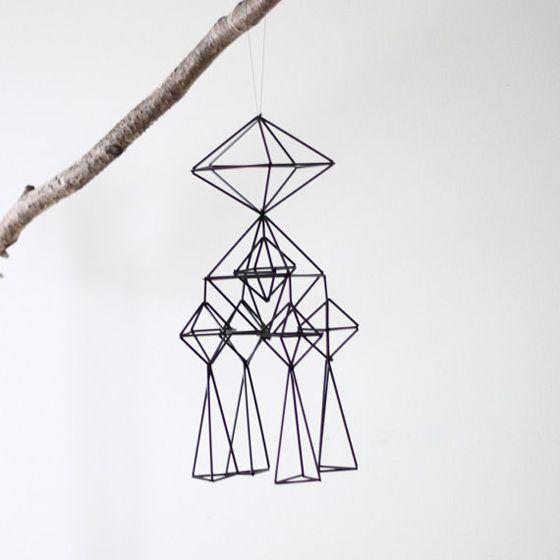 Himmeli straw mobiles