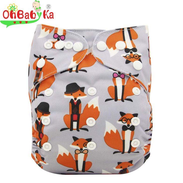 Ohbabyka wiederverwendbare tuch windeln neugeborenen windeln anti-leck tuch windel abdeckung mit wildleder stoff one size couche lavable