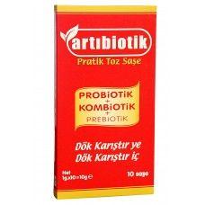 ARTIBİOTİK Probiotik + Kombiotik + Prebiotik / 10 Adet Saşe  /  Toplam 40 milyar  bakteri CFU