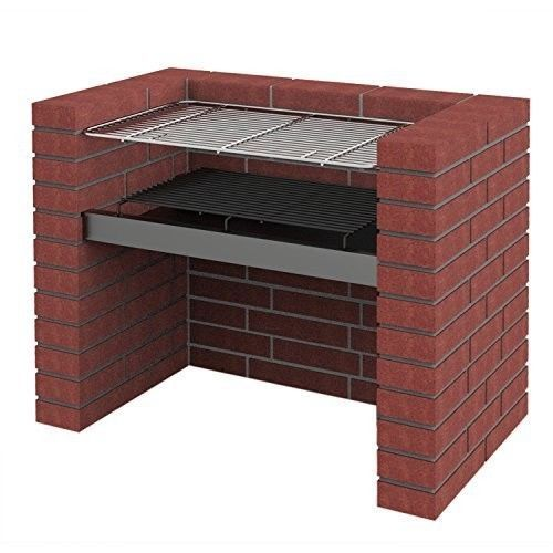 DIY Bricks Charcoal Barbecue With Stainless Steel BBQ Grill & Warming Rack 67x40 #DIYBricksCharcoalBarbecue