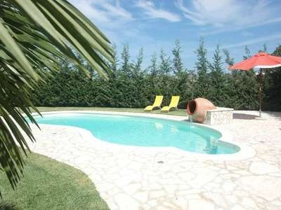 SICILIANA - Gorgeous self-governing villa with personal swimming-pool situated north-west of Sicily, in the surrounding of Terrasini. This holiday home offers a spacious and nice veranda furnished with garden furniture and enjoying views of the garden and of the swimming-pool.