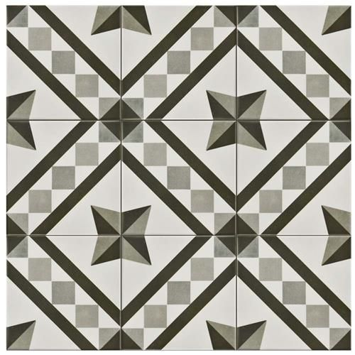 "Atelier Antracita Vendome 5-7/8""x5-7/8"" Ceramic F/W Tile"