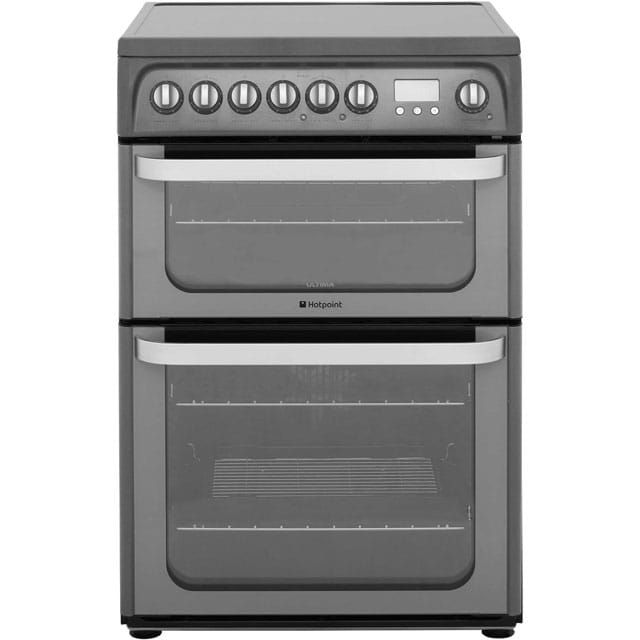 £405  Hotpoint Ultima HUE61GS Electric Cooker with Ceramic Hob - Graphite