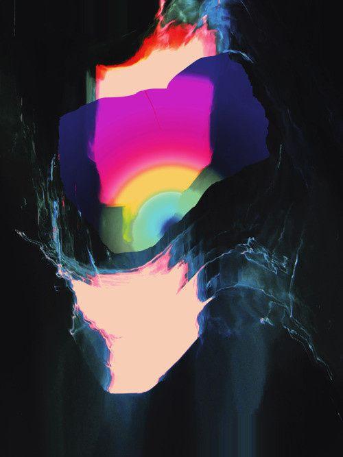 Abstract digital art / Black abstract