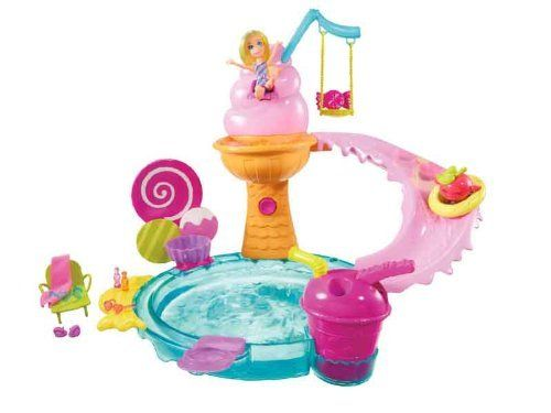 Polly Pocket Ice Cream Water Park Playset by Mattel. $10.98. From the Manufacturer                Polly Pocket Ice Cream Water Park Playset: Polly has the sweetest water park around with this candy-inspired water playset. Perch Polly at the top of the sundae seat, and with a few shots from the slushier shooter, the dunk tank is triggered and Polly drops into the pool for a real sundae splash. Polly doll's hair also features a cool color-change that turns from bright...