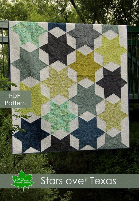 Stars Over Texas Quilt Pattern Pdf Queen Size Quilt