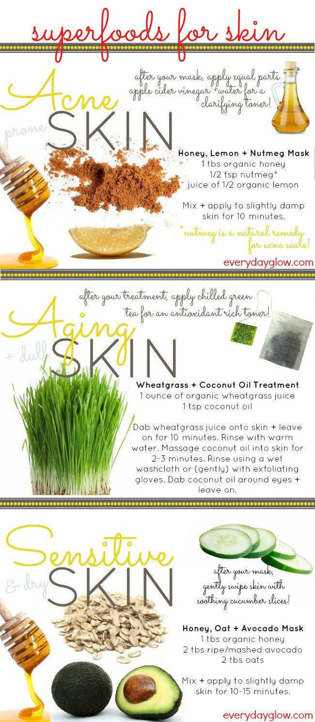 DIY Super Food Recipes For Your Skin - Daily Superfood Love