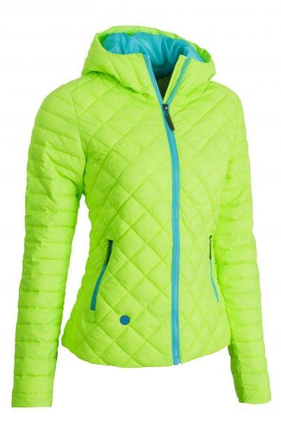 Sharp Ladies´ Jacket Green - Většina populace od obratníků k pólům je v zimě nabalená jako pumpa. Vystupte z masy převrstvených individuí v tence pěchované parádě. Zimu zablokuje, charisma znásobí.