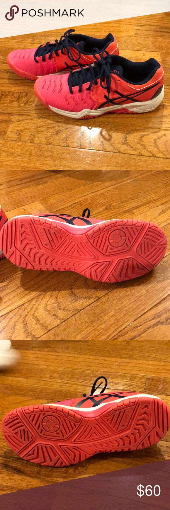 Women's Gel Resolution 7's by ASICS sz 5 Women's ASICS Gel Resolution 7 size 5 in EXCELLENT condition only worn 2 day on inside basketball court   Perfect for Tennis or Volleyball . From smoke free pet free home Asics Shoes Athletic Shoes