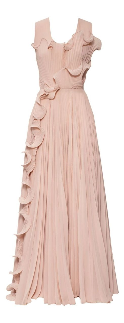 This H&M Conscious Collection peach/pink gown is absolutely stunning. It's also sustainable fashion as its made from recycled plastic bottles.
