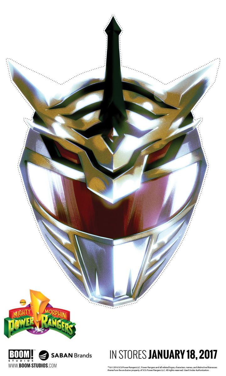 BOOM! Studios to Release Free Power Rangers Masks Publisher BOOM! Studios recently introduced an entirely new Power Ranger to the Mighty Morphin Power rangers mythos. To celebrate that occasion and the major stories to come in the series BOOM! has announced a major new promotional effort for January 2017. As part of this promotion BOOM! will be offering retailers free promotional masks featuring the likeness of this mysterious hybrid Green/White Ranger. Check that out below: Art by Hendry Pr