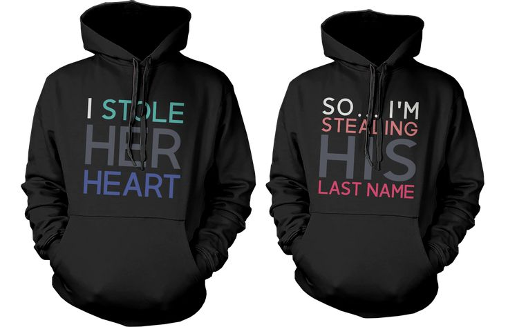 I Stole Her Heart So I'm Stealing His Last Name Matching Couple Hoodies (Set)