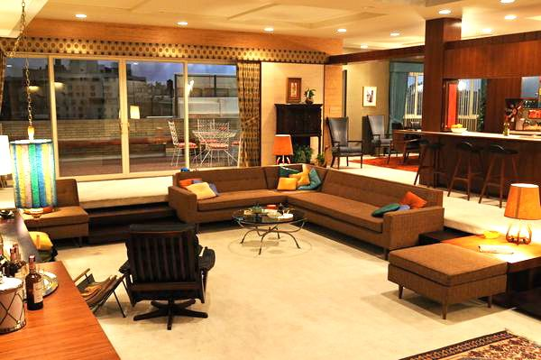 The Draper apartment on Mad Men makes me a little nauseous with envy every time I watch a scene shot there.