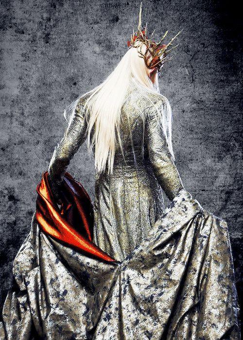 Thranduil disposes the robe