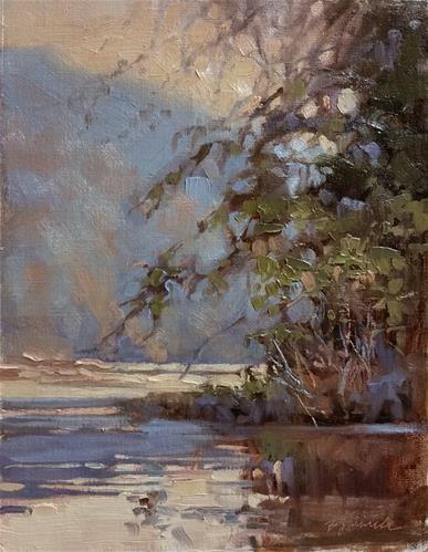 "Daily Paintworks - ""White Water Creek Haze"" - Original Fine Art for Sale - © Barbara Jaenicke"