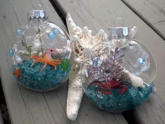 how to make christmas ornaments with sea urchan