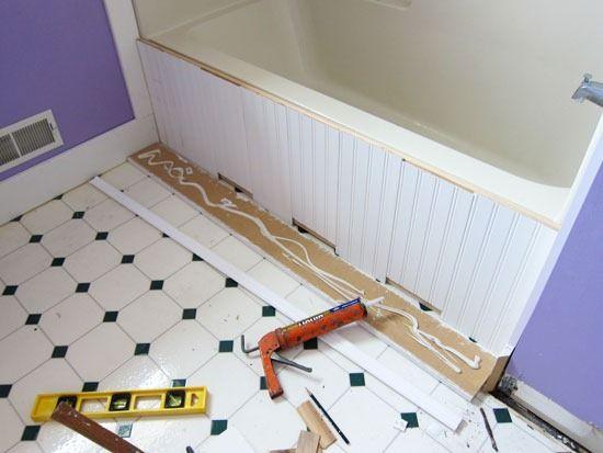 How to install decorative tub siding