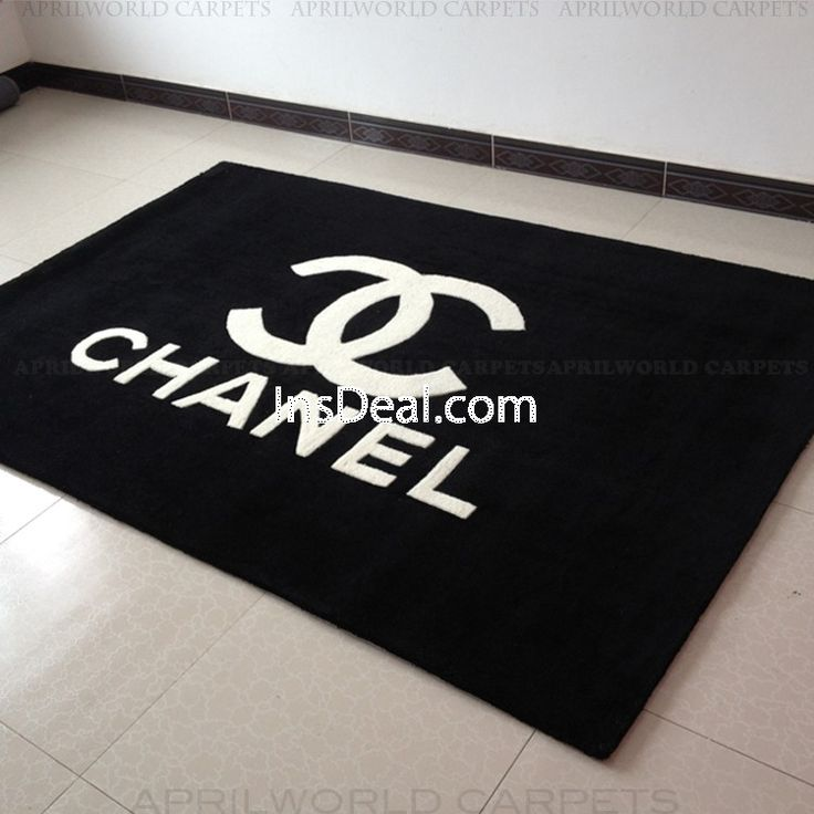 Chanel Thick Rectangular Area Rugs For Living Room Bedroom