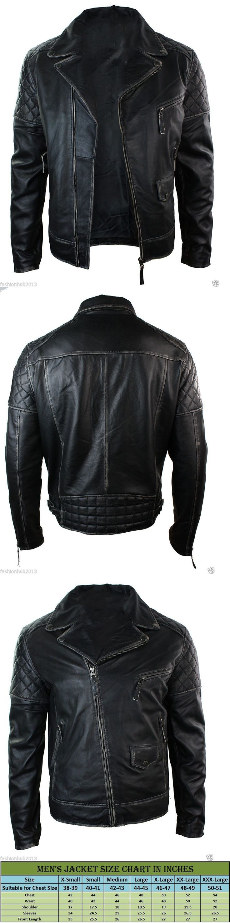 Men Coats And Jackets: New Mens Leather Jacket Slim Fit Biker Motorcycle Genuine Lambskin Coat #1308 -> BUY IT NOW ONLY: $149.99 on eBay!