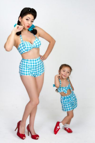 Pint Sized Pin Ups by Vintage Suits by Mary.  TOTALLY going to need matching vintage repro playsuits!