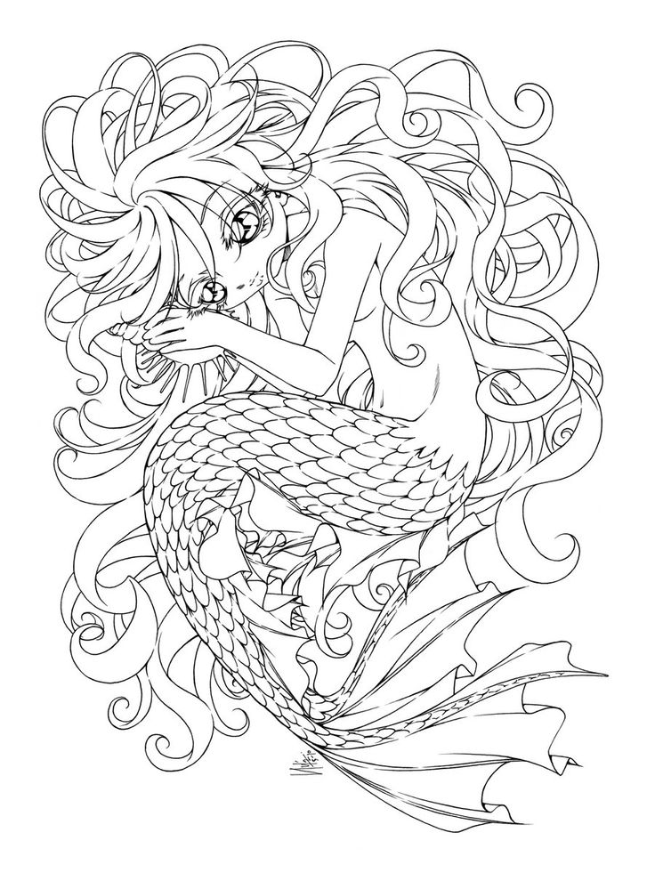 sounds of the ocean by sureya on deviantart mermaid color colour coloring colouring advanced adult printable