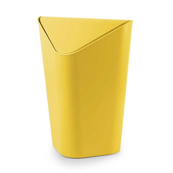 poubelle dangle salle de bain 10l en plastique bascule corner - Poubelle Salle De Bain Orange