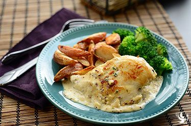 French Tarragon Chicken with Redskin Potato Wedges - Sweet and savory ...
