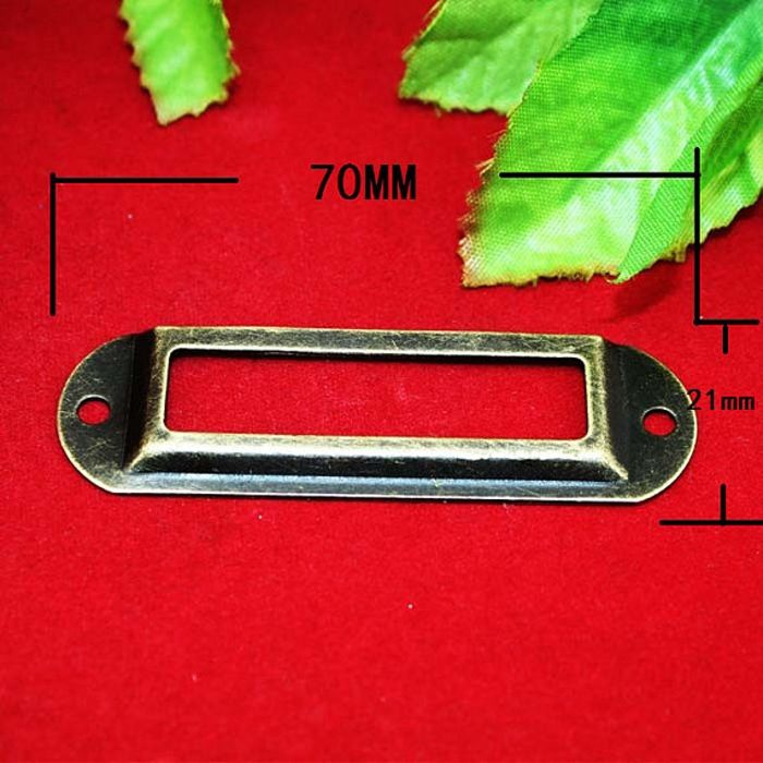 16.99$  Watch now - http://aliaaa.shopchina.info/go.php?t=32378363494 - 70mm Vintage bronze Iron Label box drawer handle metal card holder decorative frame label holder 16.99$ #buyonline