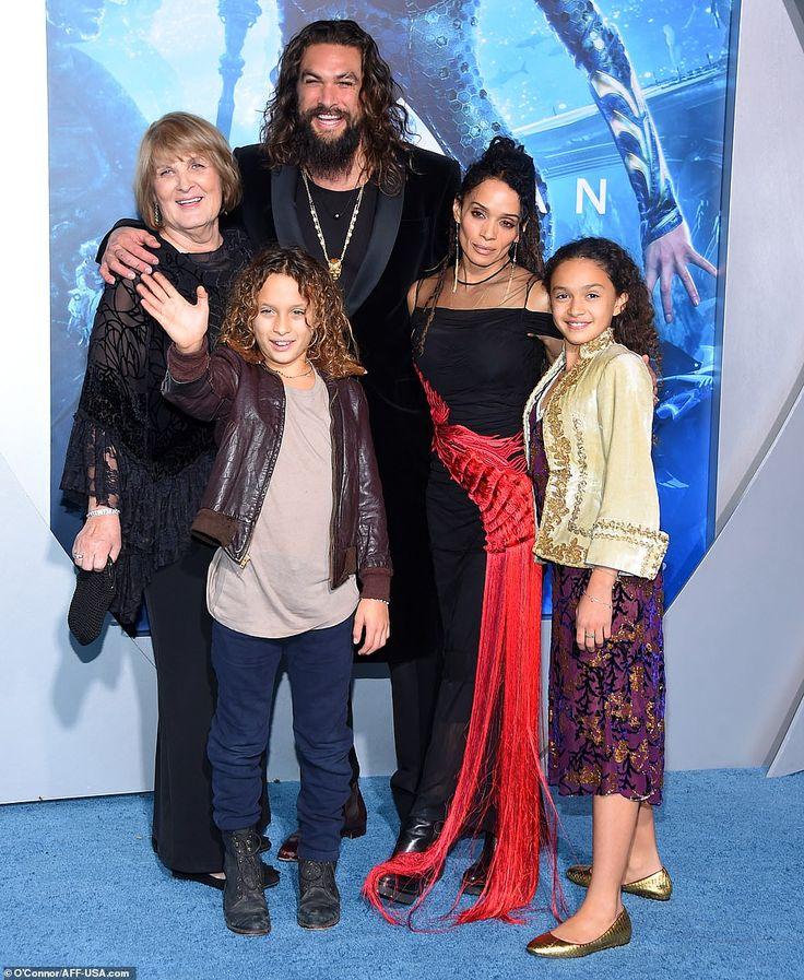 Jason Momoa Ponytail: Jason Momoa And Wife Lisa Bonet Pack On The PDA At Aquaman