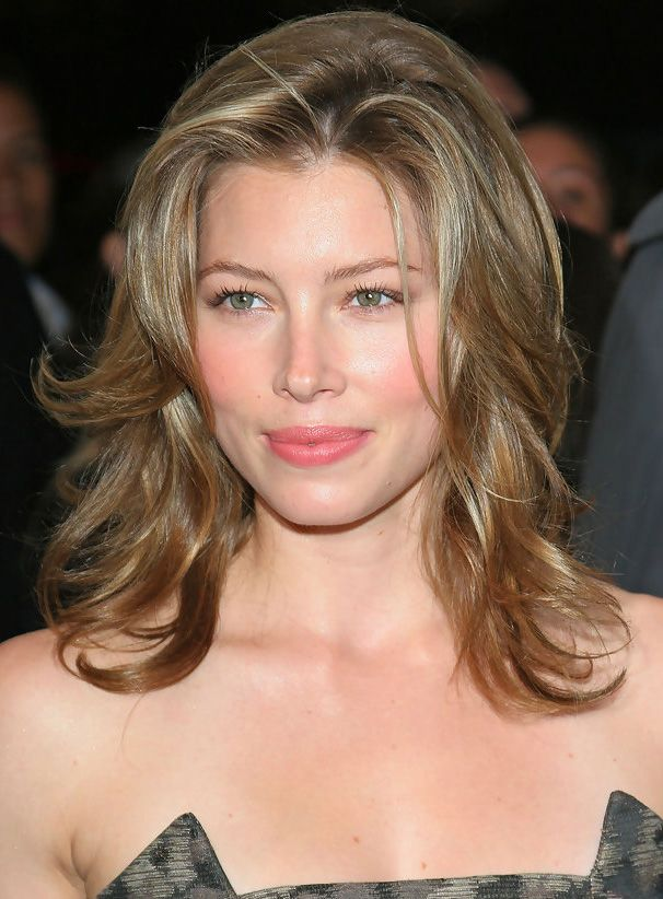 Premier Fascinating Jessica Biel Hairstyle 14 Inches Lace Front Wig