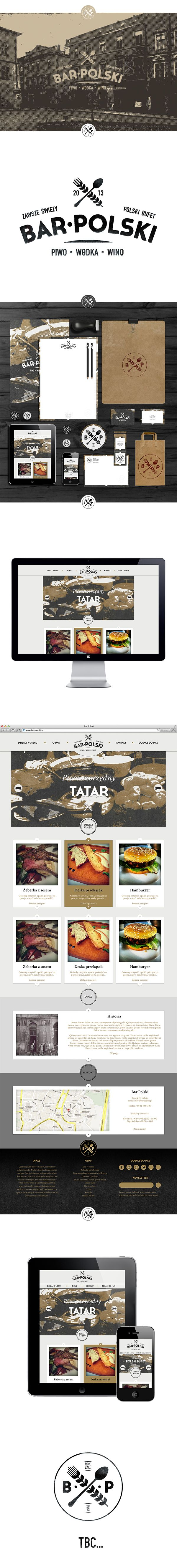 Restaurant branding - print and web design, good mix of retro and modern - love the black and white photography