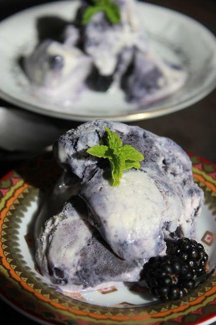 Souped-up Garden: Mint Blackberry No-Churn Ice Cream