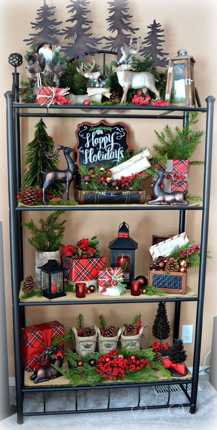 Dining Delight: Christmas Decor on the Etagere