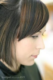How to cut side bangs perfectly! She also has a ton of other ideas on how to save money and do things at home